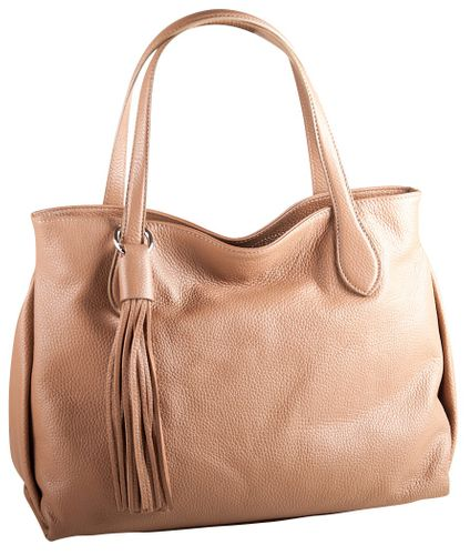 Pelle Italy Giada Schultertasche Taupe
