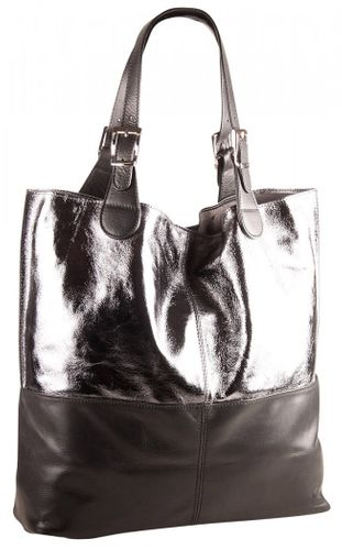 Pelle Italy Liona Shopper Bag Silver