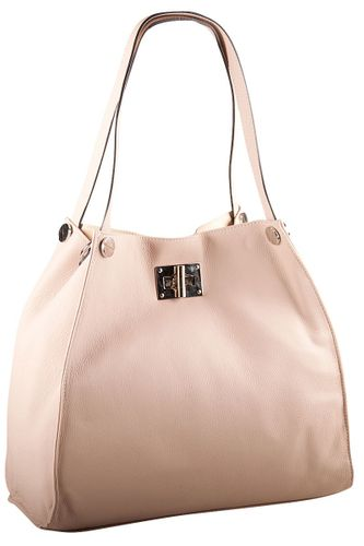 Pelle Italy Rosa Shopperbag Shopper Tasche Damen Creme