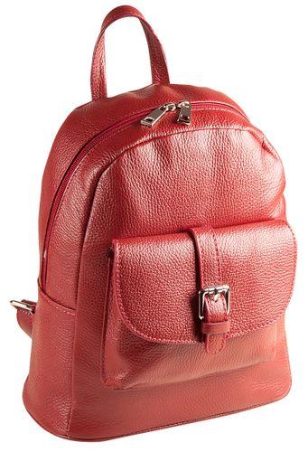 Pelle Italy Dolcia Rucksack Backpack Leder Grau