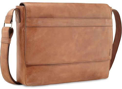 Picard Enzo 8725 Whiskey Cognac Tasche Leder Laptoptasche Messenger Bag