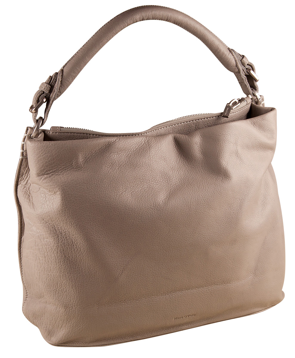 072d07c2c18c9 Marc O Polo Eight Washed Light Grey Tasche Damen Beuteltasche Leder  Handtasche
