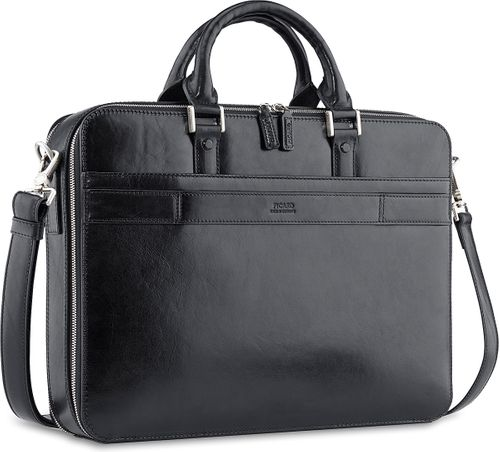 Picard Office 4403 Aktentasche Schwarz Black Made in Germany Business Tasche Leder