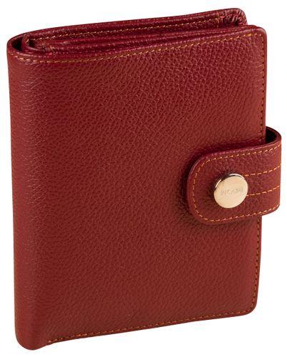 Picard Melbourne 9243 Rot Portemonnaie Leder Damen Geldbeutel