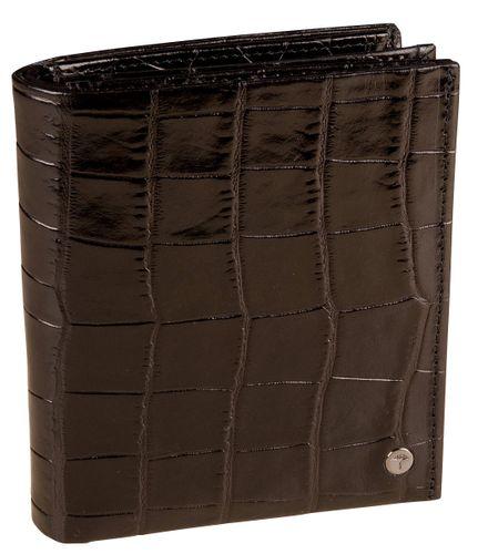 JOOP Crocco Midas Billfold V16 Dark Brown Portemonnaie Herren Leder