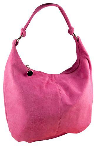 Pelle Italy Concetta Beuteltasche Leder Damen Bag Blau