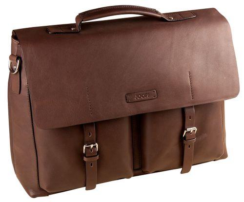 Joop Missori Kreon Briefbag LHF Brown Aktentasche Leder Business Tasche