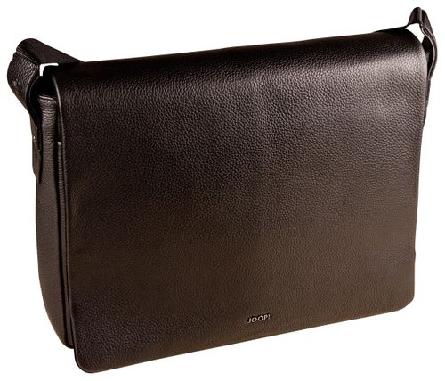 Joop Cardona Doros Messenger LHF Black Leder Tasche Laptoptasche