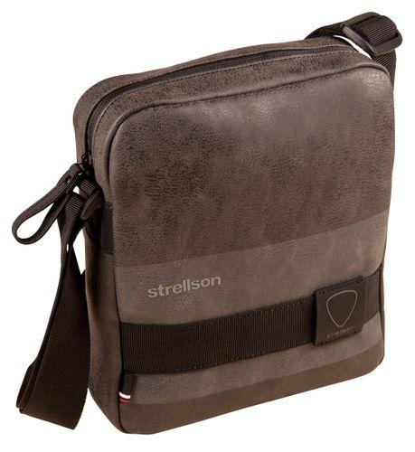 Strellson Finchley Shoulderbag SVZ Grey Tasche Herren Umhängetasche